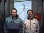Zac and Stu at Wood StreetStation