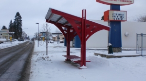 Citylink stop shelter on 4th Street at Miller Avenue