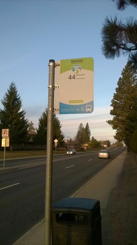 New STA Bus Stop on 29th Ave Photo Credit: Karl Otterstrom (@PedestrianMan)